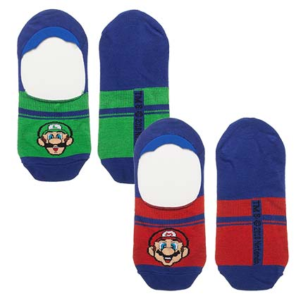 Super MARIO Bros Luigi Men's Athletic Liner Socks 2 Pairs