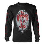 Vikings Long Sleeves T-shirt Raven Sword