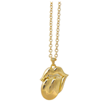 The Rolling Stones Necklace: Gold Tongue