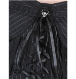 Pinstripe corset with black lacing