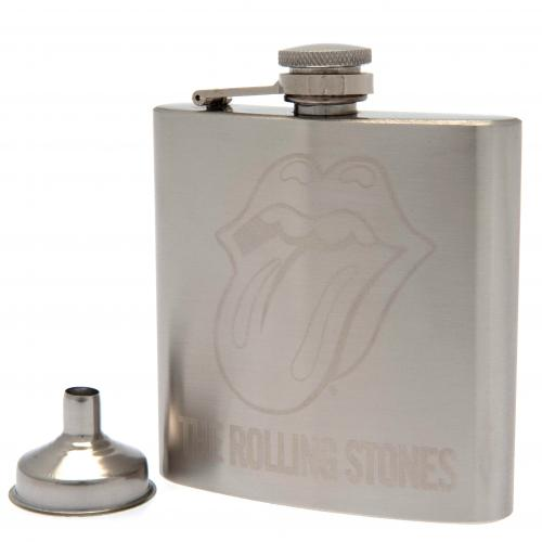 The Rolling Stones Chrome Hip Flask