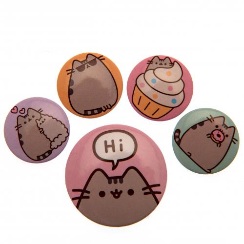 Pusheen Button Badge Set