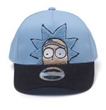 RICK AND MORTY Rick Chenille Embroidered Curved Bill Cap, Blue/Black