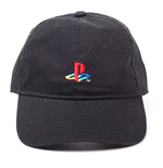 SONY Playstation Logo Embroidered Dad Cap, Black