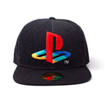 SONY Playstation Logo Denim Embroidered Snapback Baseball Cap, Black