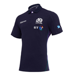 2018-2019 Scotland Home SS Cotton Rugby Shirt