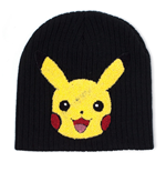 POKEMON Pikachu Chenille Embroidered Cuffless Beanie, Black