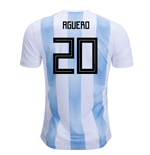 2018-19 Argentina Home Shirt (Aguero 20) - Kids