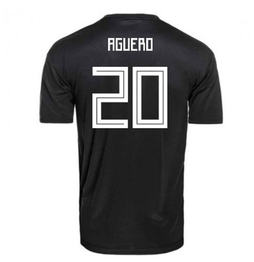 2018-2019 Argentina Away Adidas Football Shirt (Aguero 20)