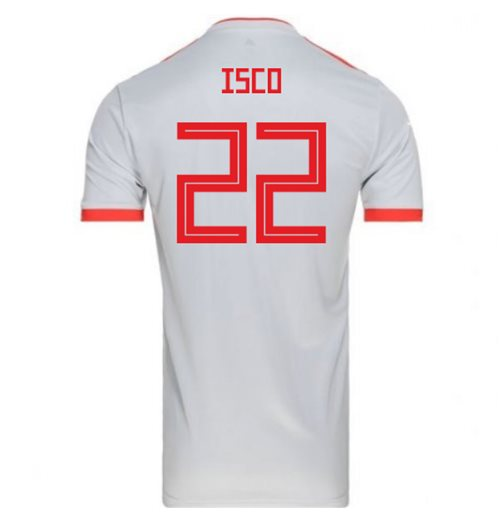 266588926 Buy Official 2018-2019 Spain Away Adidas Football Shirt (Isco 22)