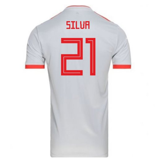 2018-2019 Spain Away Adidas Football Shirt (Silva 21)