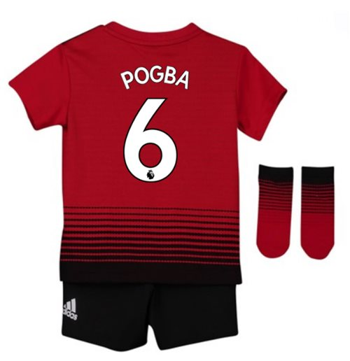 reputable site 10347 b0d6c 2018-2019 Man Utd Adidas Home Baby Kit (Pogba 6)