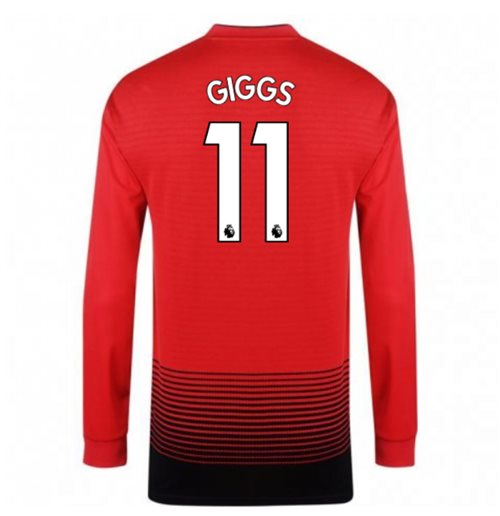 2018-2019 Man Utd Adidas Home Long Sleeve Shirt (Giggs 11)