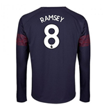 2018-2019 Arsenal Puma Away Long Sleeve Shirt (Ramsey 8) - Kids