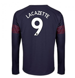 2018-2019 Arsenal Puma Away Long Sleeve Shirt (Lacazette 9)