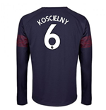 2018-2019 Arsenal Puma Away Long Sleeve Shirt (Koscielny 6) - Kids