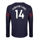 2018-2019 Arsenal Puma Away Long Sleeve Shirt (Aubameyang 14) - Kids
