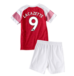 2018-2019 Arsenal Home Little Boys Mini Kit (Lacazette 9)