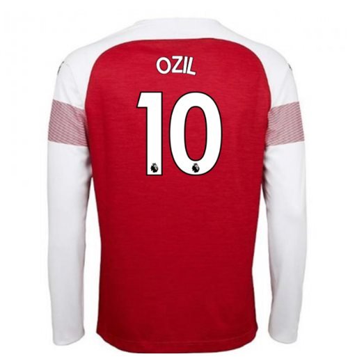 2018-2019 Arsenal Puma Home Long Sleeve Shirt (Ozil 10) - Kids