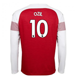 2018-2019 Arsenal Puma Home Long Sleeve Shirt (Ozil 10)