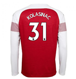 2018-2019 Arsenal Puma Home Long Sleeve Shirt (Kolasinac 31) - Kids