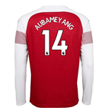 2018-2019 Arsenal Puma Home Long Sleeve Shirt (Aubameyang 14)