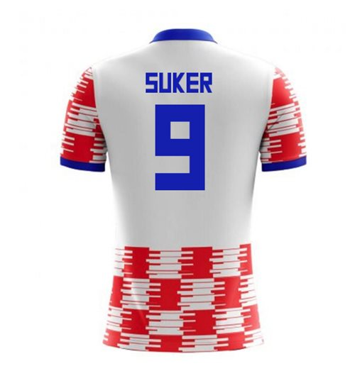 2018-19 Croatia Home Concept Shirt (Suker 9)