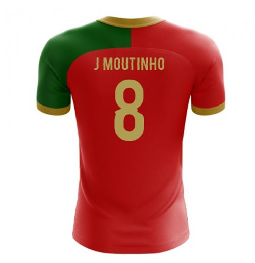2018-2019 Portugal Flag Home Concept Football Shirt (J Moutinho 8)