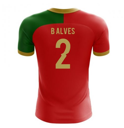 2018-2019 Portugal Flag Home Concept Football Shirt (B Alves 2) - Kids