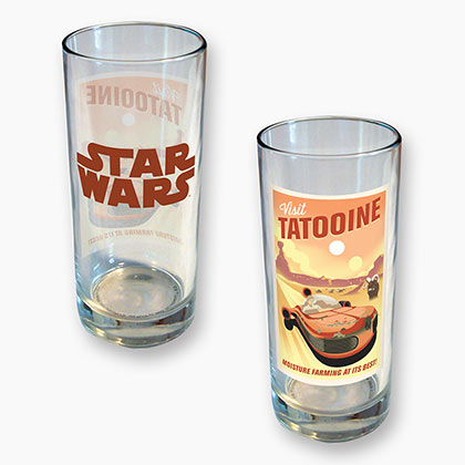 STAR WARS Tatooine Design 15 Ounce Glass