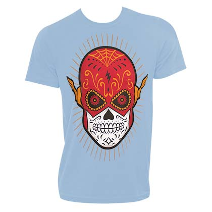 The FLASH Sugar Skull Design Blue Tshirt