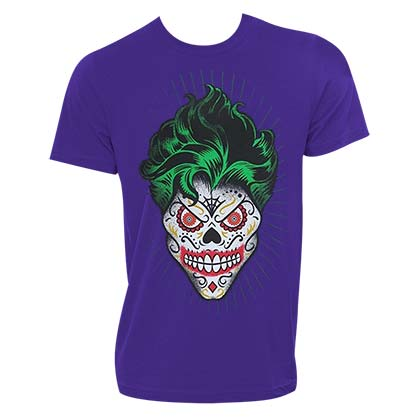 The JOKER Sugar Skull Design Purple Tshirt