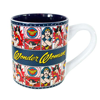WONDER WOMAN Comic Panels 14 Ounce Mug