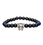 Black Panther Natural Beads Bracelet Black Panther Charm