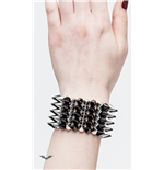 Black/silver bracelet with plastic cone