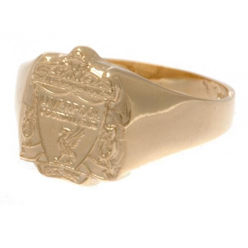 Liverpool F.C. 9ct Gold Crest Ring Small