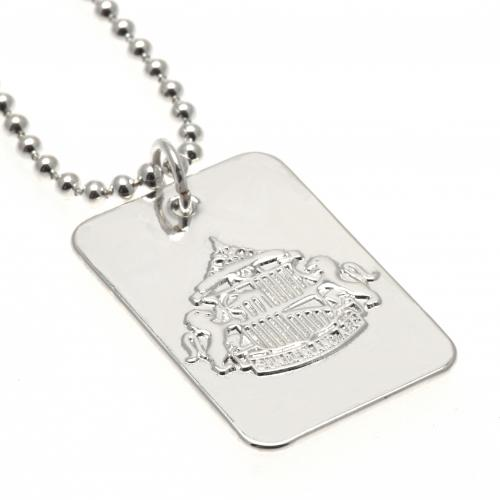 Sunderland A.F.C. Silver Plated Dog Tag & Chain