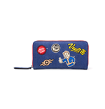 Fallout - Vault 76 Denim Zip Around Wallet With Patches