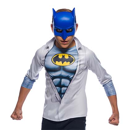 BATMAN Blue Mask And Tee Shirt Youth Costume