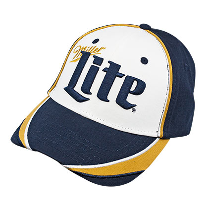 MILLER Lite Navy Blue And White Puffed Logo Hat