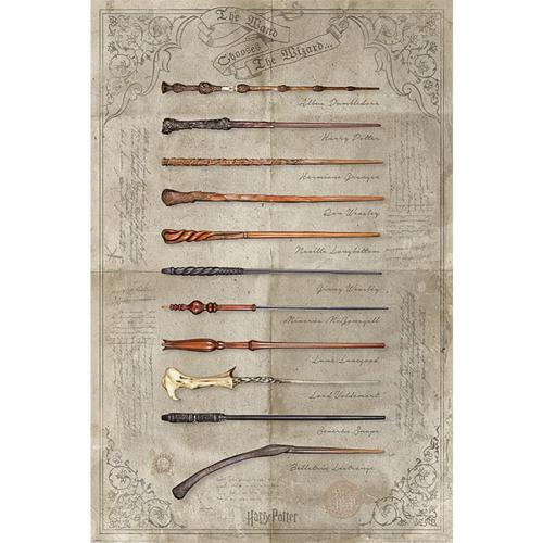 Harry Potter Poster Wands 161