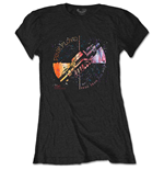 Pink Floyd Ladies Tee: Machine Greeting Orange