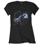 Pink Floyd Ladies Tee: Machine Greeting Blue
