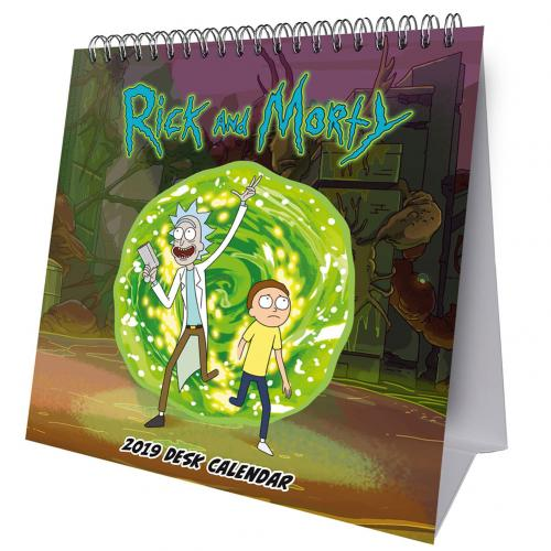 Rick And Morty Desktop Calendar 2019