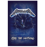 Metallica Textile Poster: Ride the Lightning