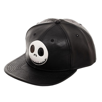 NIGHTMARE BEFORE CHRISTMAS Metal Black Snapback Hat