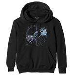 Pink Floyd Unisex Pullover Hoodie: Machine Greeting Blue