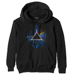 Pink Floyd Unisex Pullover Hoodie: Dark Side of the Moon Blue Splatter