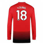2018-2019 Man Utd Adidas Home Long Sleeve Shirt (Young 18) - Kids