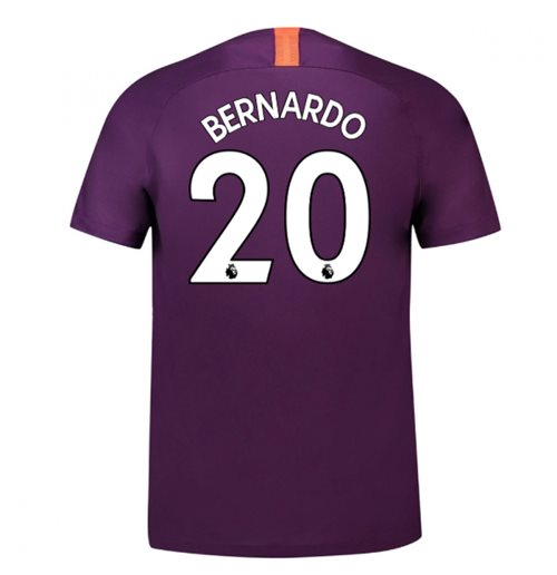 2018-2019 Man City Third Nike Football Shirt (Bernardo 20)
